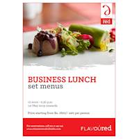 Enjoy the Business Lunch Set Menus at our Flavoured restaurant, throughout the month of May.