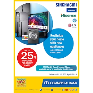 Up to 25% Off for at Singhagiri for Combank Cardholders
