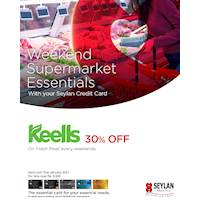 Enjoy 30% savings on Fresh Meat at Keells on weekends with your Seylan Credit Cards