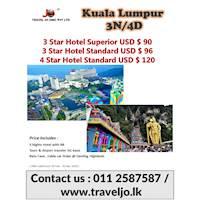 KUALA LUMPUR 3N/4D at Travel JO