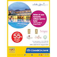 Relax at your favourite Aitken Spence hotel with ComBank Credit Cards.