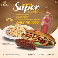 Super Combo for just Rs. 1,000/- at La Rose Blanc