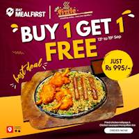 Buy 1 Get 1 Free from The Sizzle on Eat Meal First