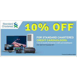 10% off on daily essentials for Standard Chartered Cardholders at Wasi.lk