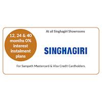 Get 12, 24 & 40 months 0% interest instalment plans on selected products at all Singhagiri Showrooms for all Sampath Mastercard & Visa Credit Cardholders