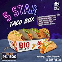 5 Star Taco Box at Taco Bell