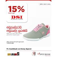 Enjoy 15% savings at DSI with DFCC Credit Cards!