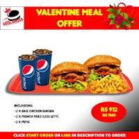 Valentines Meal Offer at Royal Burger