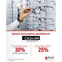 Enjoy up to 30% off & 0% installment plans with Seylan Credit and Debit Cards at George Gooneratne Optometrists
