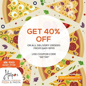 Get 40% off menu-priced pizzas and pastas are back