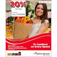 Grab up to 20% savings at Softlogic Glomark on 23rd January, 06th & 20th February and 05th March 2020 with your DFCC Credit Card!