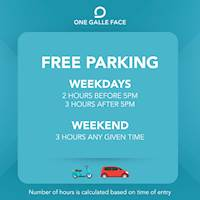 FREE Parking at One Galle Face