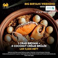 Big Biryani Weekend with Standard Chartered Visa Infinite and Priority Cards at Ministry of Crab