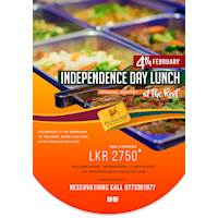 Enjoy the Independence Day Lunch for LKR 2,750 at Pegasus Reef