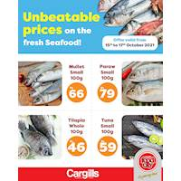 Buy fresh seafood at the Lowest Price across Cargills FoodCity outlets islandwide!