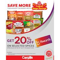 Get 20% off on selected spices at Cargills FoodCity!