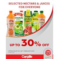 Get up to 30% Off on selected Nectars & Juices at Cargills FoodCity!