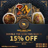 Get 15% Off at Nom Nom Thai