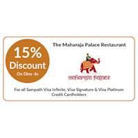 Get 15% OFF on dine-in at The Maharaja Palace Restaurant for Sampath Visa Infinite, Visa Signature & Visa Platinum Credit Cardholders