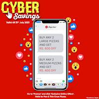 Pizza Hut CYBER SAVINGS this JULY!