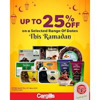 Get up to 25% Off on selected Dates at Cargills FoodCity this Ramadan!