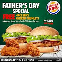 Father's Day Special at Burger King