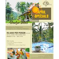 April Specials at Athulya Villas
