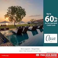 Up to 60% off at Arie Lagoon for Pan Asia Bank credit Cards