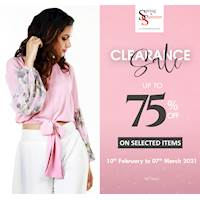 Enjoy up to 75% off on selected items at Spring & Summer
