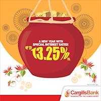 Welcome this New Year with special FD interest rates up to 13.25% p.a from Cargills Bank
