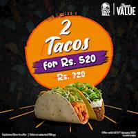 Get 2 Tacos for just Rs. 520 from Taco Bell