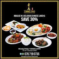 Indulge in a Delicious Chinese Lunch & Save 30 % at Tsing Tao