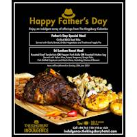 Father's day special meal at Kingsbury Hotel