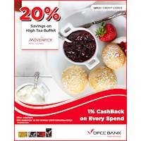 Enjoy 20% OFF on High Tea Buffet at AYU - Movenpick Hotel Colombo with DFCC Credit Cards!