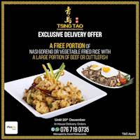 Exclusive Delivery Offer at Tsing Tao
