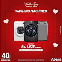 Washing Machines - special reduced prices with zero interest payments up to 40 months at Abans