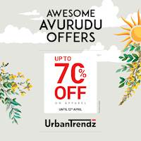 Shop at UrbanTrendz for new styles and enjoy Awesome Avurudu discounts of upto 70% off