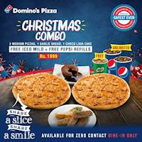 Christmas Combo for Rs 1999 at Domino's Pizza