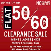 Clearance sale at The Kids Warehouse