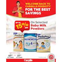 Get up to 15% off on Selected Baby Milk Powder at Cargills Food City