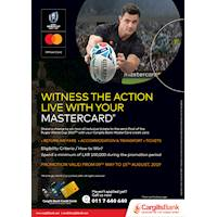 Stand a chance to win two all inclusive tickets to the semi-final of the Rugby World Cup 2019 with your Cargills Bank Master Card Credit Card