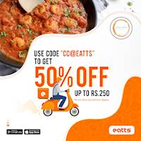 ⁣50% off up to Rs. 250 with The Curry Collective via Eatts