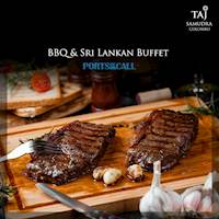 BBQ and Sri Lankan Buffet at Ports of Call at Taj Samudra, Colombo.