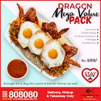 Dragon Mega Value Pack (Rs. 690/3 pax) at Chinese Dragon Café!