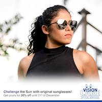 Enjoy 20% savings on Sunglasses from our Island wide branch network.