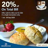Get 20% off on bills over Rs. 1000 in a single transaction only at The English Cake Company - Colombo | One Galle Face Mall