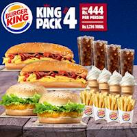 Introducing the all-new King Pack for FOUR from Burger King!