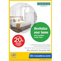 Enjoy up to 20% Discount for Combank Credit Cards at Damro