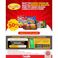 Enjoy the BIGGEST SAVINGS on Selected Snacks & Biscuits When You Order Through Cargills Outlet 2 Home!