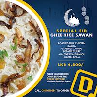 Special Eid Ghee Rice Sawan at Dinemore